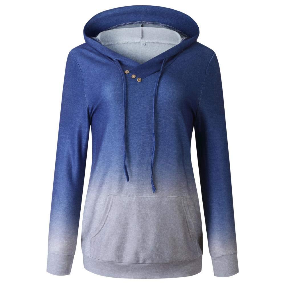 Womens Tie Dye Hoodie Sweatshirt Long Sleeve Pullover Tops with Pockets