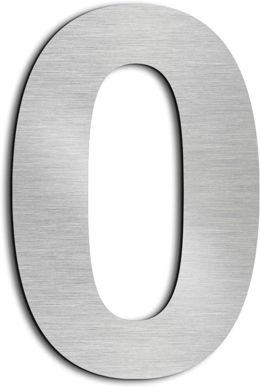 Ziffer 1 Nanly Moderne Hausnummer aus massivem hergestellt 304-GRO/ß 10.2 Zentimeter //4 Zoll- Geb/ürsteter Edelstahl Einfache Installation Schwimmendes Aussehen
