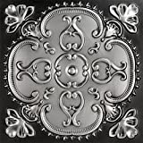 Alhambra-Faux Tin Ceiling Tile - Antique Silver 25-Pack