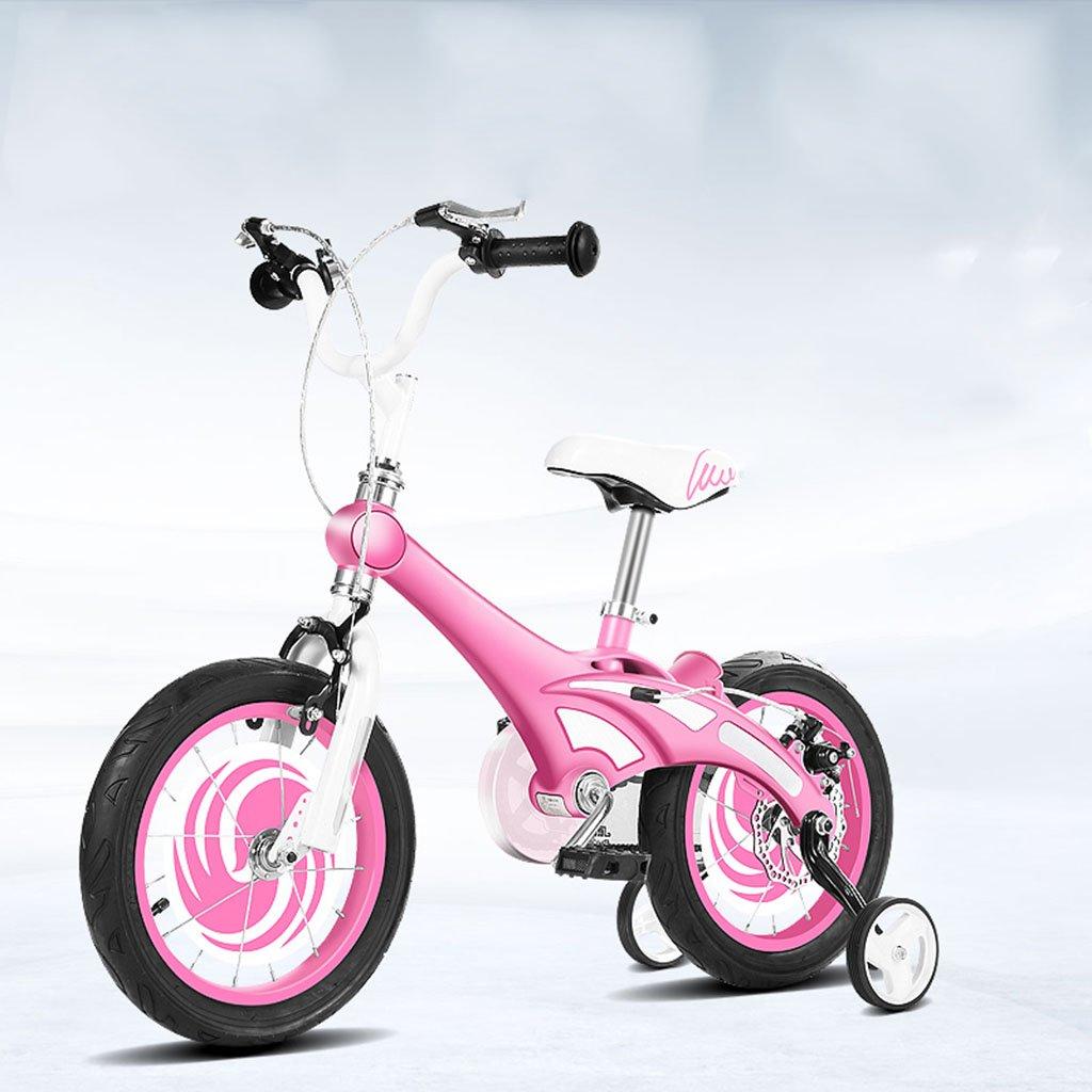 子供用自転車、子供用赤ちゃん赤ちゃん用キャリッジ子供用マグネシウム合金自転車 B07C6K33HHピンク ぴんく