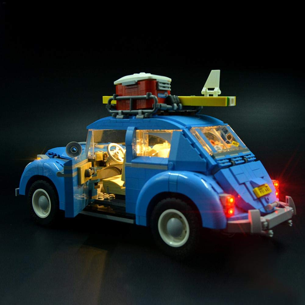 Not/Include/Building/Model, This/is/not/a/Lego/product. light up your Volkswagen Beetle Lighting Bricks 10252 The LED Lighting Kit is designed for Lego 10252 Volkswagen Beetle Lighting Bricks