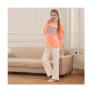 TENGTENGCAI Nuovo Arrivo Womens O-Collo Cotone Manica Lunga Pigiama Imposta alle Donne Tuta Sleepwear Molla Home