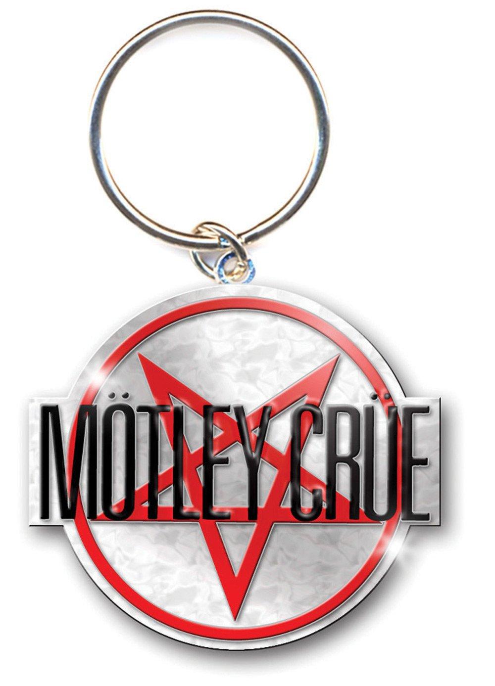 Motley Crue Shout At The Devil Pentagramma d/'argento metallo Portachiavi ufficia