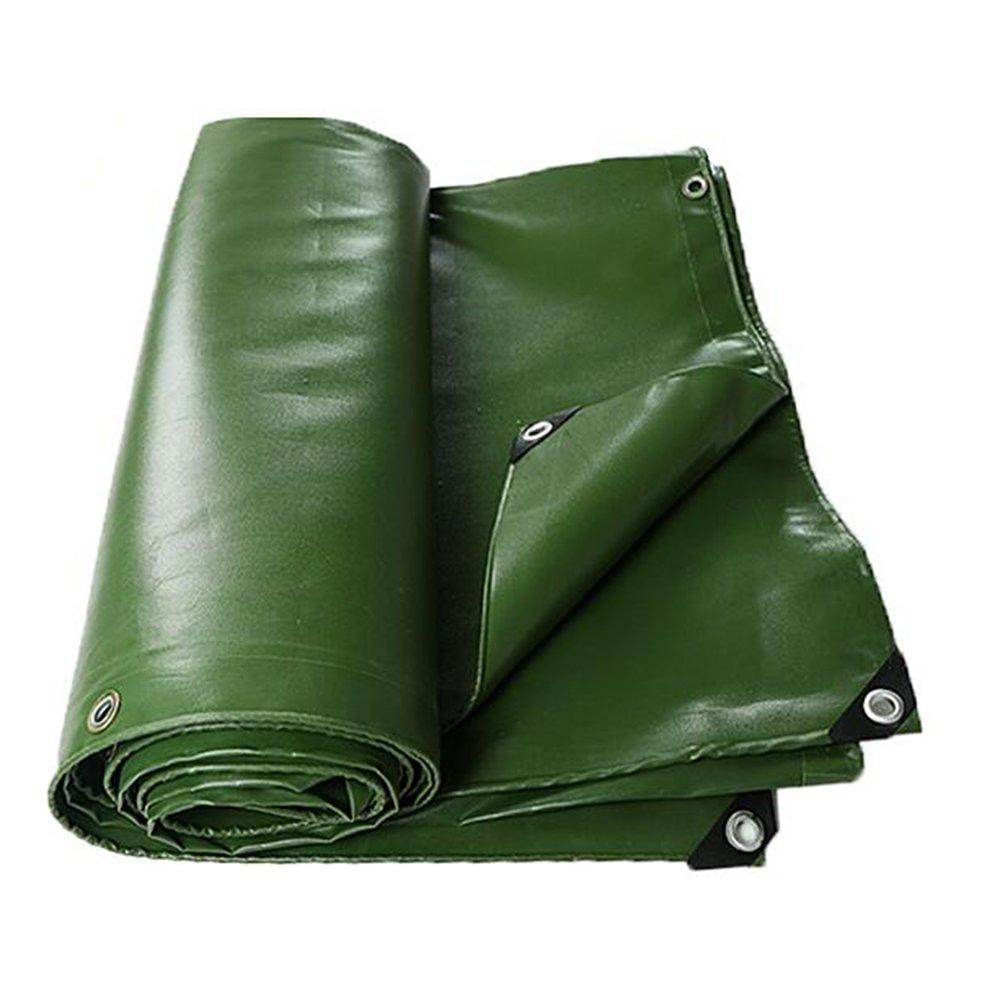 YNN 防水厚い防水布キャンバストラック防水シートリノリウム日陰の布耐摩耗布団布PVC防水0.7MM - 700 g/M² 防水シート (色 : Green, サイズ さいず : 5x 7m) B07FNT5L36 5x 7m|Green Green 5x 7m
