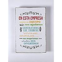 Letrero de Madera con Frases. Mensajes Positivos e inspiradores para decorar tus espacios, regalar, compartir y…