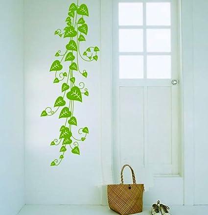 Decals Design Pothos Vine Wall Sticker (PVC Vinyl, 70 cm x 50 cm, Green)