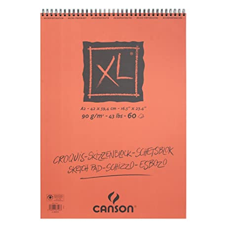 "CANSON Skizzen und Studienblock /""XL/"" DIN A2 90 g//qm 60 Blatt"