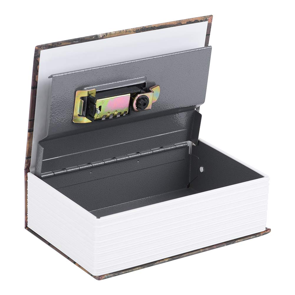 Rose Caja fuerte port/átil para guardar dinero Caja de efectivo oculta bloqueo de contrase/ña libros y pasaportes Caja de Seguridad joyas