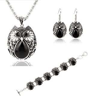 SaySure - Jewelry Sets Plating Silver Vintage Turquoise Pendant Necklace