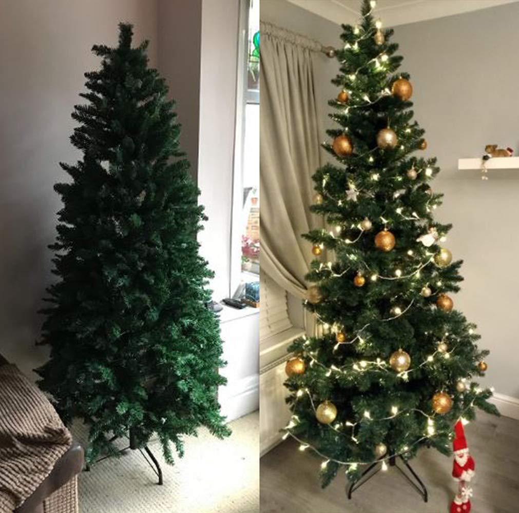 ANSIO /Árbol de Navidad 4 pies 1.2M /Árboles de Navidad Artificiales Soporte de Metal 100/% Virgen ign/ífuga Consejos de PVC