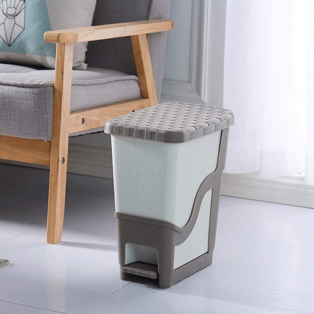 LIUFS-Bote de de LIUFS-Bote basura Bote de Basura Tipo Pedal con Tapa, Papel higiénico, baño, Papelera (Color : Dark Coffee Color, Tamaño : Small -7.5L) 37cf01