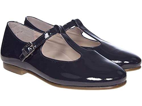 ec7a6db656f0 Panache Kids Girls Traditional T-Bar Patent Leather Shoe Navy Blue 24 uk7