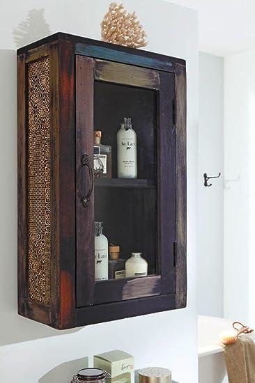 GOA 3548 Bad Hängeschrank, Holz, 21 x 42 x 70 cm, bunt: Amazon.de ... | {Hängeschrank holz 50}