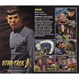 Star Trek 50th Anniversary - Spock, Captain Kirk, Scotty, Doctor Leonard Bones McCoy - Collectible Postage Stamps Grenada
