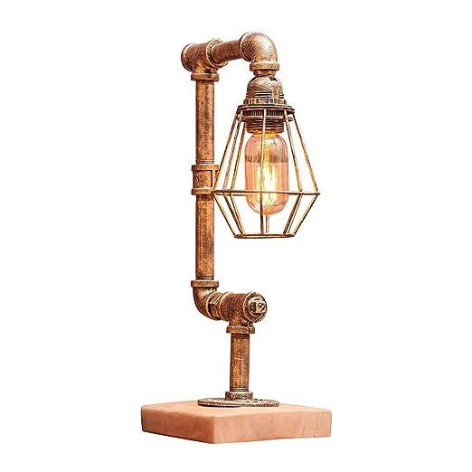 LIUYU Lámpara de mesa industrial de la vendimia Lámpara de ...