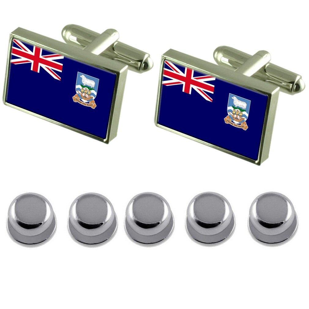 Select Gifts Shirt Dress Studs Falkland Islands Flag Cufflinks