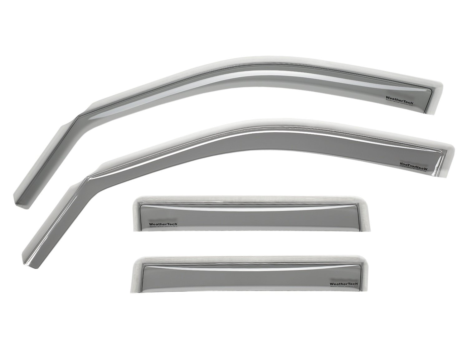 WeatherTech Custom Fit Front and Rear Side Window Deflectors for Lexus LS Light Smoke