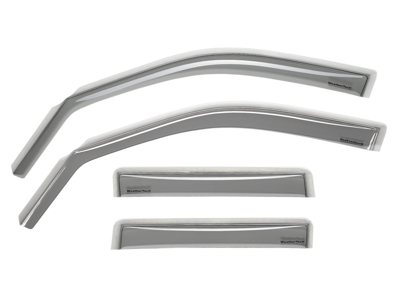 WeatherTech Custom Fit Front and Rear Side Window Deflectors for Toyota Corolla Light Smoke