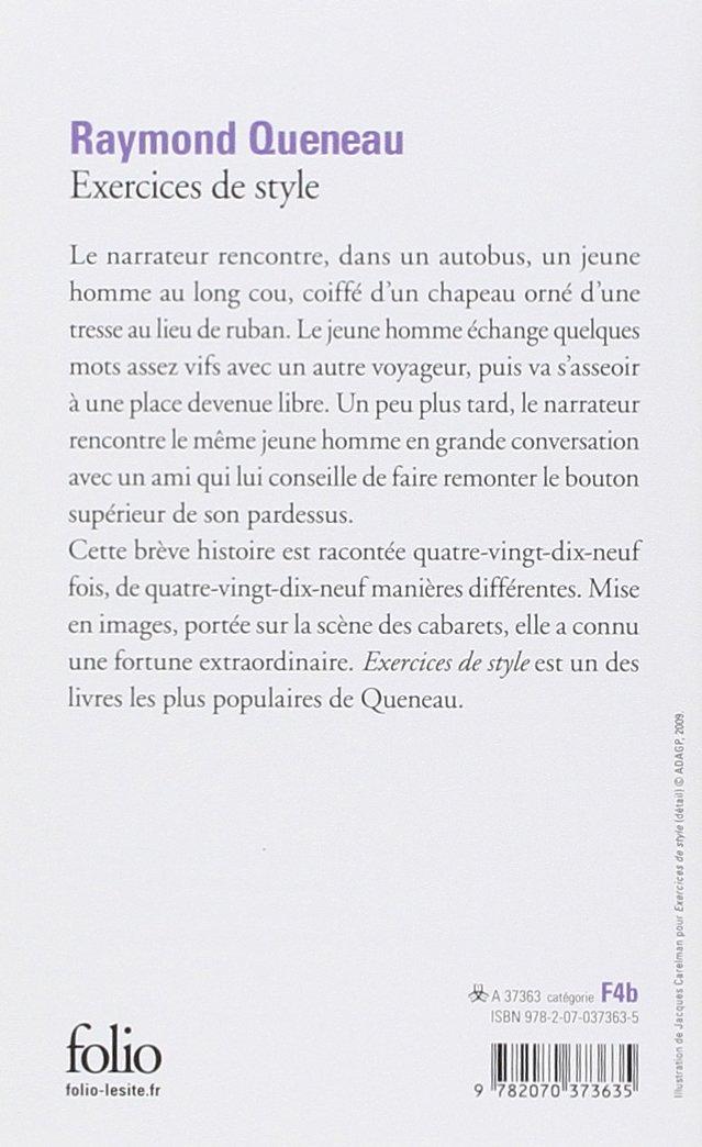 raymond queneau stilübungen pdf