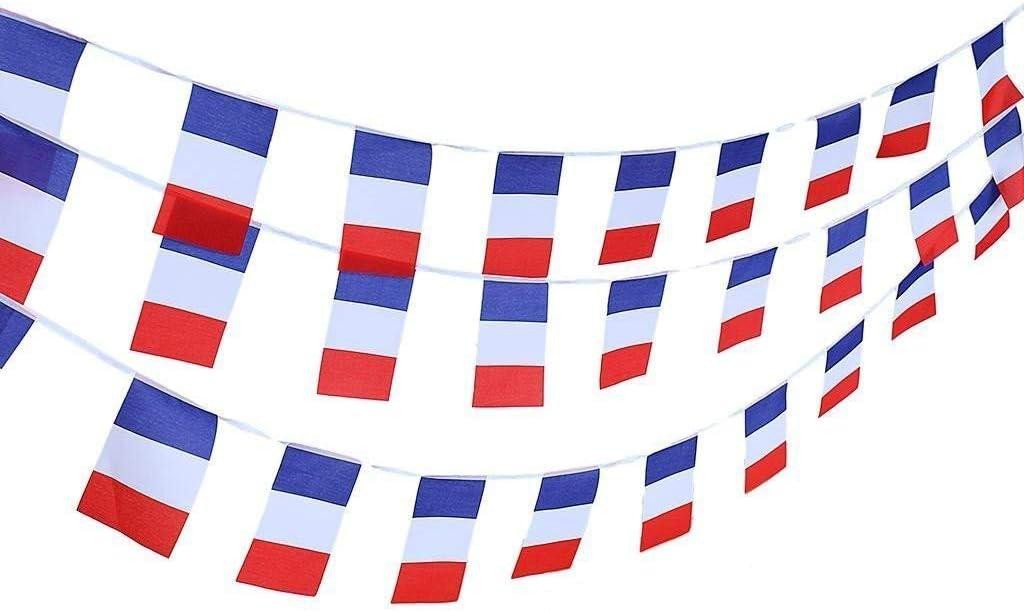 TRIXES 12 Piezas Empavesado Guirnalda Rectangular Bandera de Francia Celebraciones Nacionales: Amazon.es: Deportes y aire libre