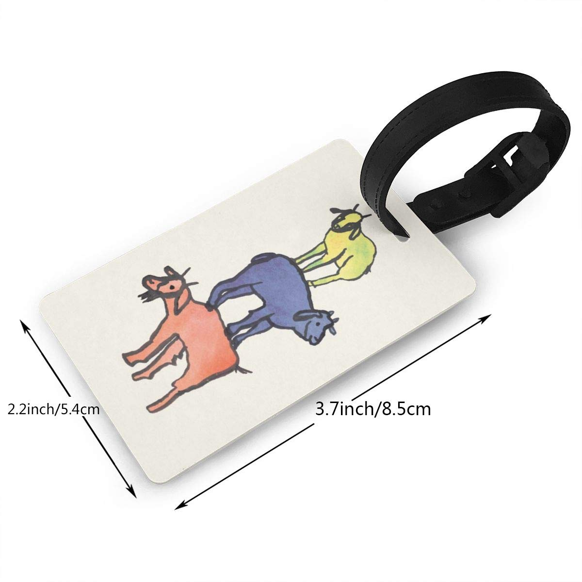 billy goats up Luggage Tags Suitcase Labels Bag Travel Accessories Set of 2