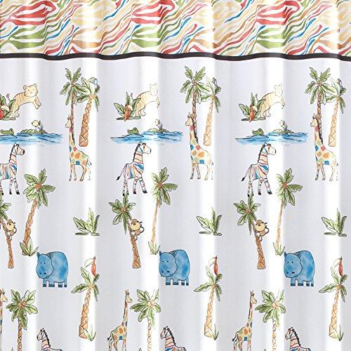 Saturday Knight Safari Fabric Shower Curtain