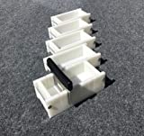 Lot of 4 HDPE Soap Loaf Making Mold and Multi Slot Soap Cutter 1 - 2 lb per mold