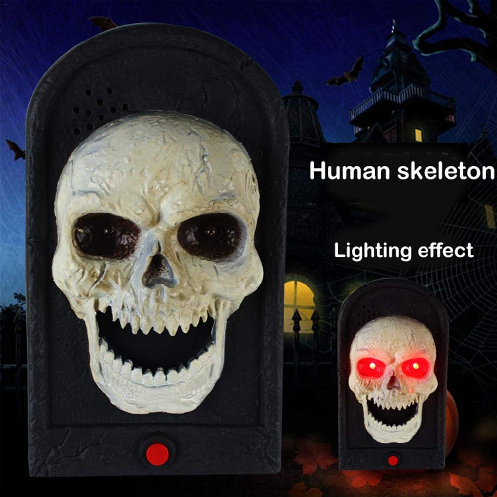 Fancystar Halloween Decorative LED Light Doorbell with Spooky Sounds Haunted House Prop Lamp Halloween Party Prop Decoration by Fancystar (Image #2)