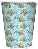 RNK Shops Mosaic Fish Waste Basket - Double Sided (White) (Personalized)