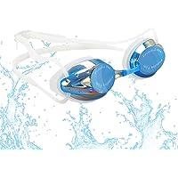 FTALGS Okulary pływackie, zatyczki do uszu i klamry do nosa w zestawie, soczewka chroniąca przed promieniowaniem UV…
