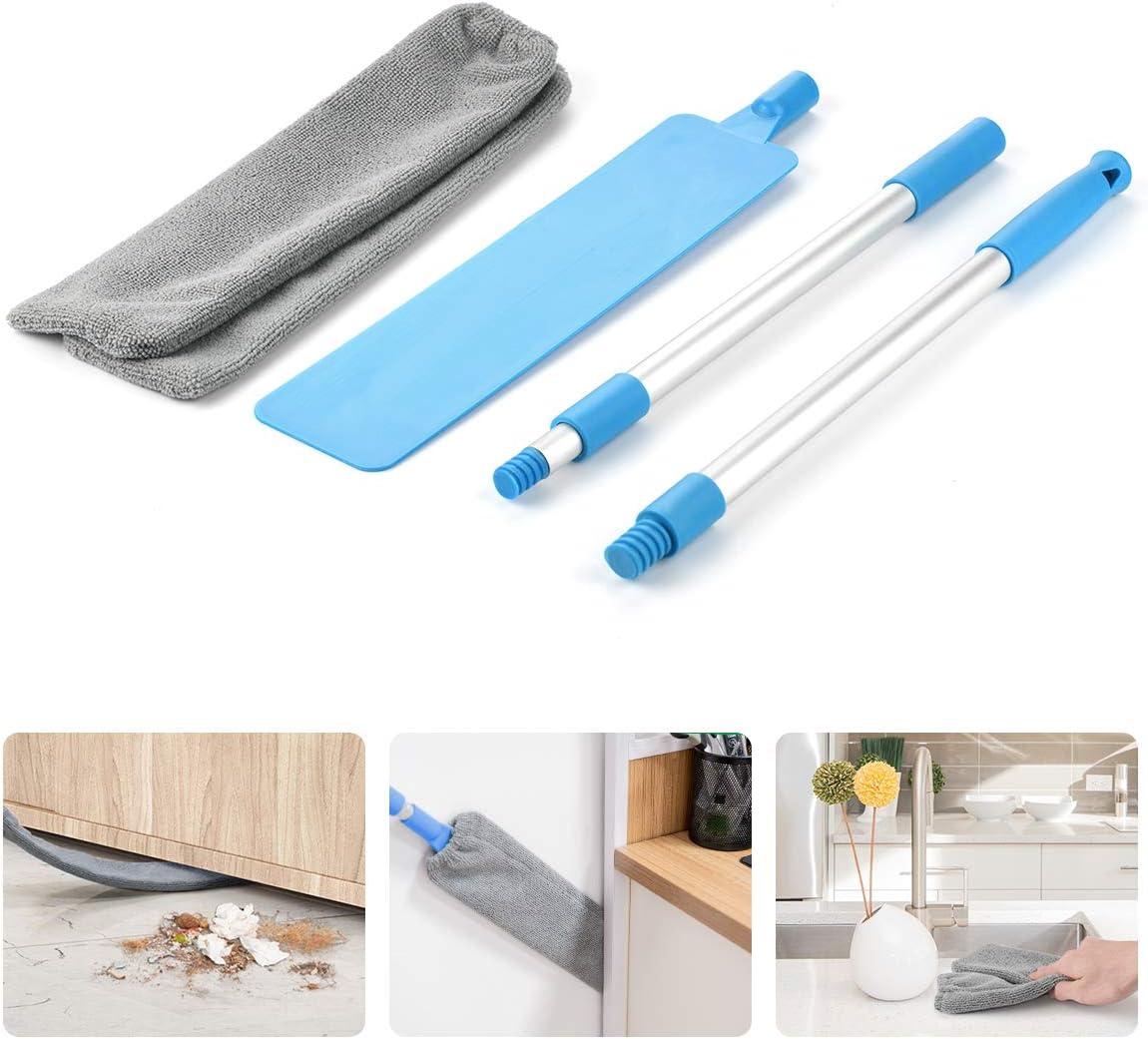 Lidasen - Cepillo limpiador para el polvo, extensible, para limpiar sofás o camas, techos altos, muebles y por debajo de los muebles, con mango extralargo ajustable