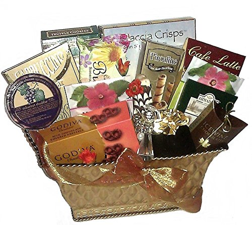 Religious Gift Baskets - Inspirational Glass Angel & Sweets Gift Basket
