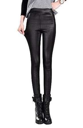 migliore a buon mercato stile classico abbastanza carino Bestor Fashion Donna Sexy Nero Attillati Leggings Pelle con ...