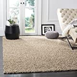 Safavieh Athens Shag Collection SGA119G Beige Area Rug, 8 feet by 10 feet (8' x 10')