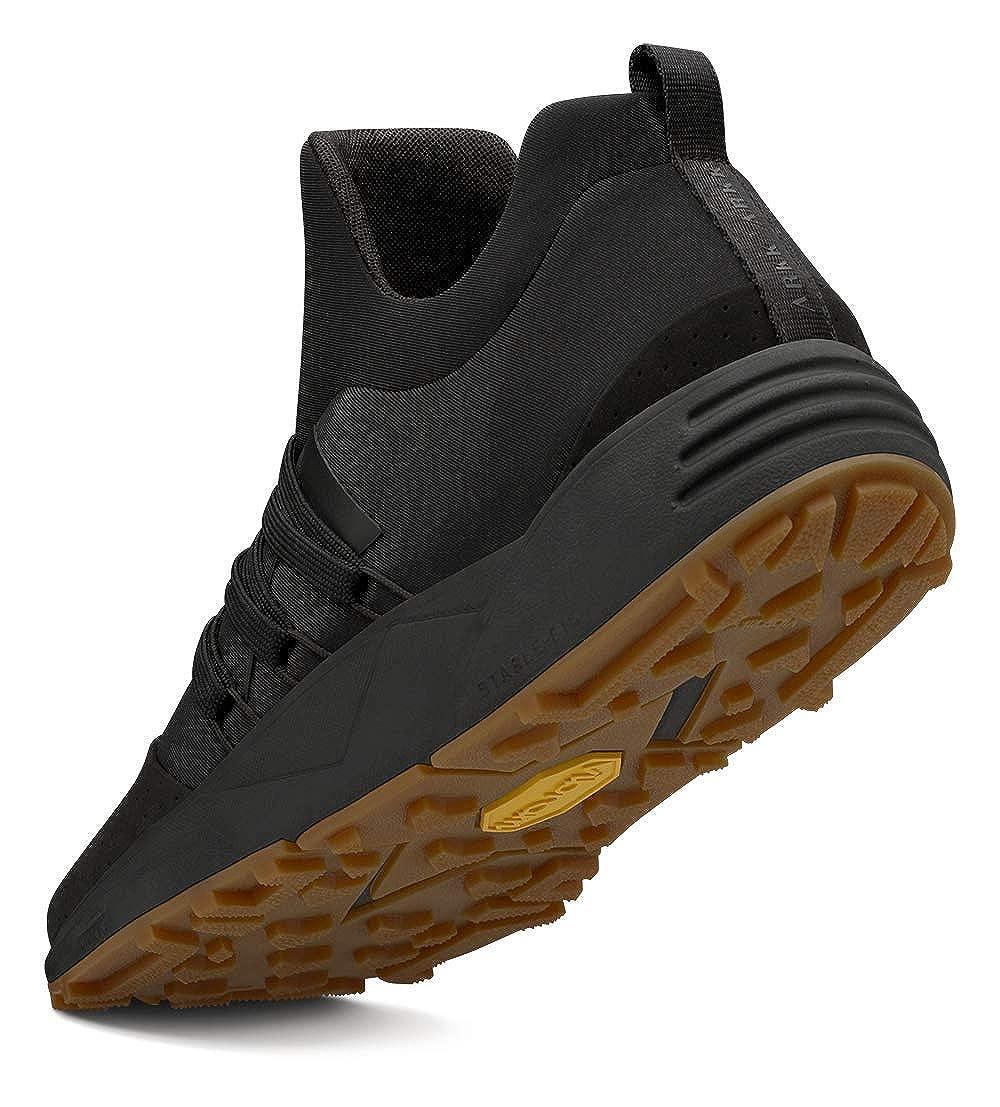 ARKK Copenhagen Women Sneakers Raven Nubuck S-E15 Vibram Black Gum