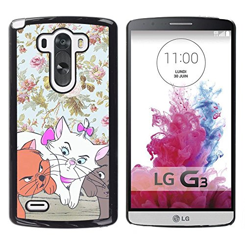 Plastic Shell Protective Case Cover || LG G3 D855 D850 D851 || Wallpaper Cartoon Cat @XPTECH