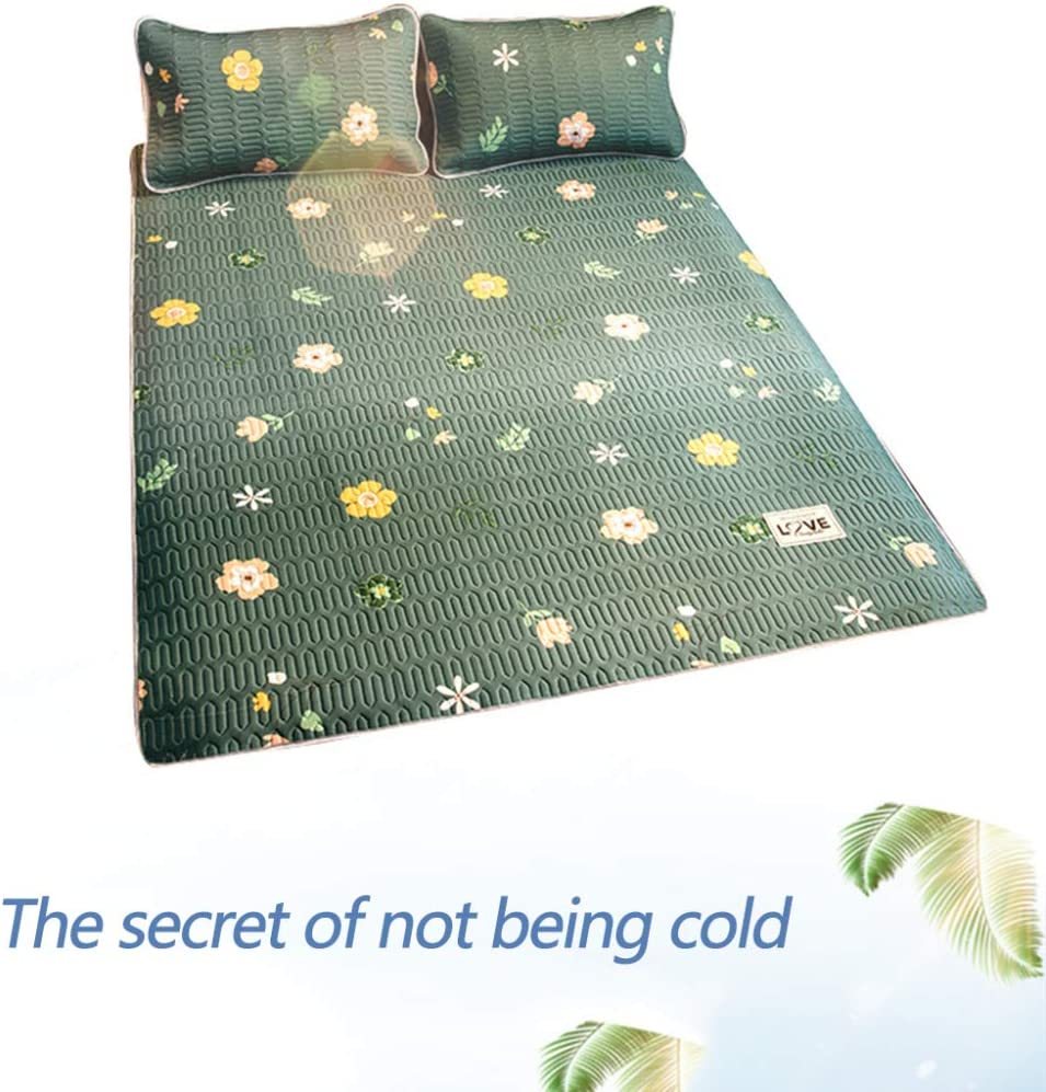 Cooling Mat With Pillowcase, Foldable Folding Summer Ice Silk Cover, Chill Mattress Gel Pad Comfortably Cool Bed Cover,13 21
