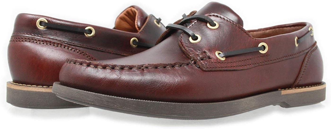 Cuir huil/é Mocassin 2 /œillets Design l/éger PORTMANN Crew Chaussures Bateau pour Homme