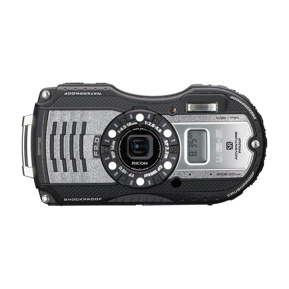 RICOH waterproof digital camera WG-5GPS gunmetal waterproof 14m withstand shock 2.2m cold -10 degrees 04651