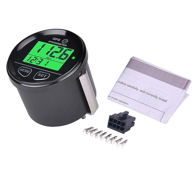 Velocímetro cuentakilómetros GPS digital con retroiluminación de Searon, impermeable, alarma de alta velocidad, compatible con vehículos, motocicletas, ...
