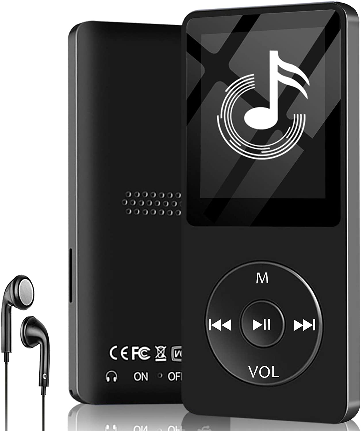 Aigital MP3 Muisc Player with 32 GB Memory Card Portable Media Player Digital Lossless Music Player with FM Radio/E-Book, HiFi Lossless Sound(Built-in Speaker)
