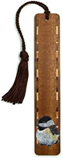 product image for Chickadee - Art by Kathleen Barsness, Wooden Bookmark with Tassel