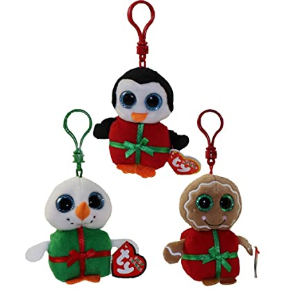 1ead00326f1 Amazon.com  Ty Holiday Beanie Baby Clips (Set of 3)  Toys   Games