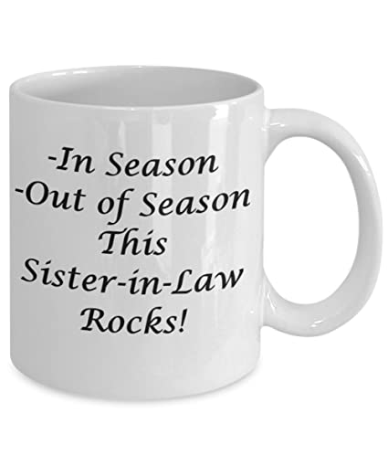Christmas Gifts For Sister In Law From Or Brother Funny Ideal 11 OZ Coffee