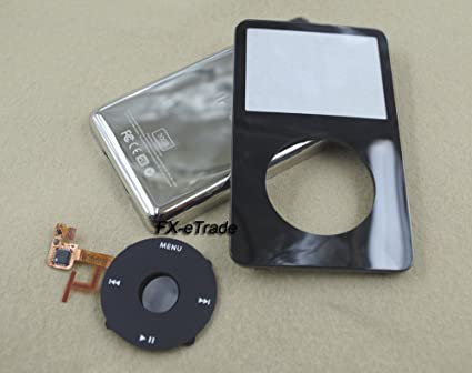 5X Front Faceplate Housing Cover for iPod Classic 6th Gen 120GB Black