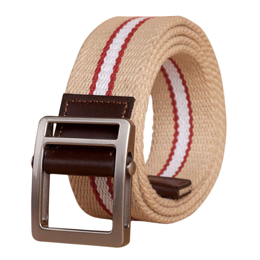 Fulision Unisex canvas belt tactical woven belt Durable Canvas belt male Wild