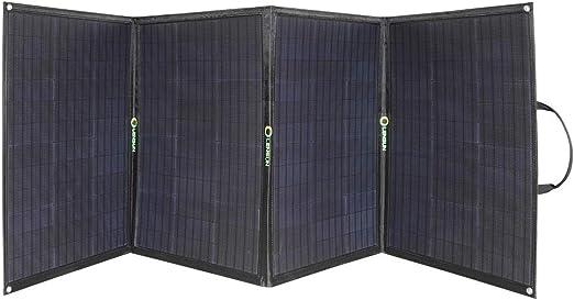 Lensun Kit de panel solar plegable flexible de 200 W (5 x 40 W) 12 V ETFE negro con soportes, controlador solar de 20 A listo para cargar batería, perfecto para caravanas,