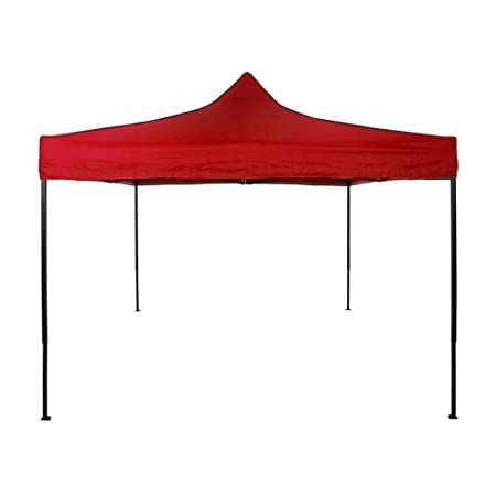 American Phoenix 10×10 Multi Color and Size Portable Event Canopy Tent, Canopy Tent, Party Tent Gazebo Canopy Commercial Fair Shelter Car Shelter Wedding Party Easy Pop Up Red, 10×10