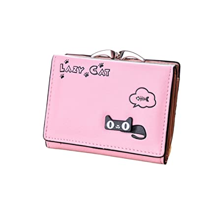 Amazon.com: Trenton Girls Bifold Lovely Cat Card Holder Coin ...