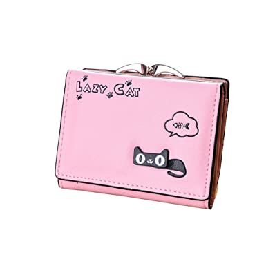 Amazon.com: rainbow25 Bifold Adorable gato titular de la ...